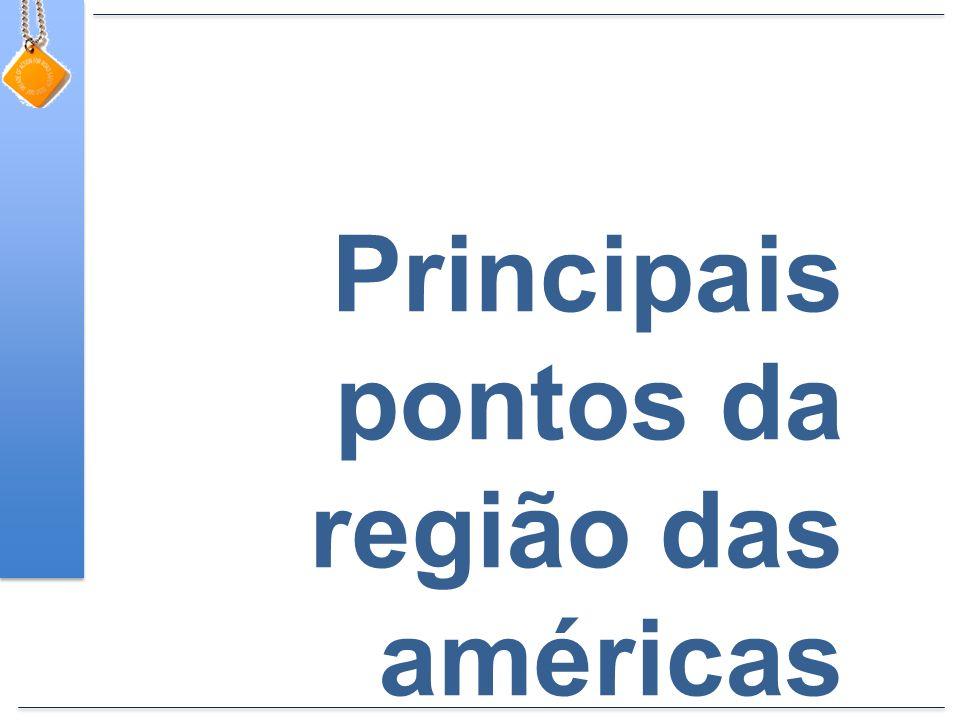 Principais pontos da região das américas