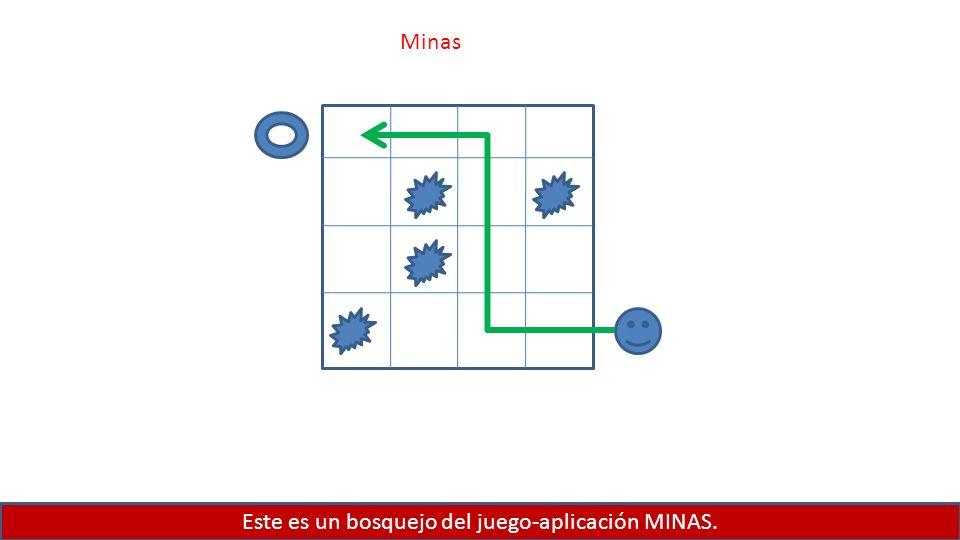 Este es un bosquejo del juego-aplicación MINAS. Minas