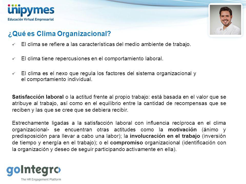 ¿Qué es Clima Organizacional.