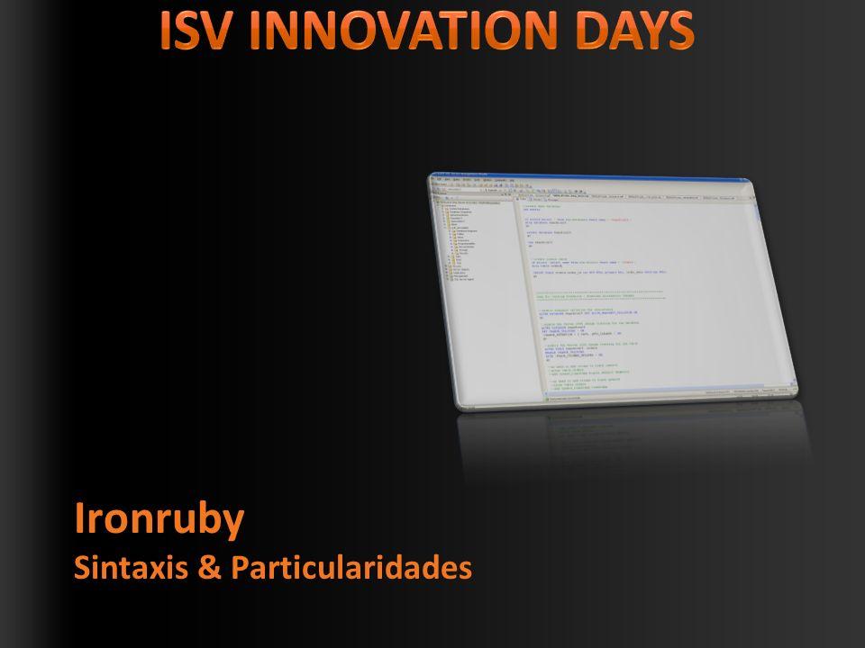 Ironruby Sintaxis & Particularidades