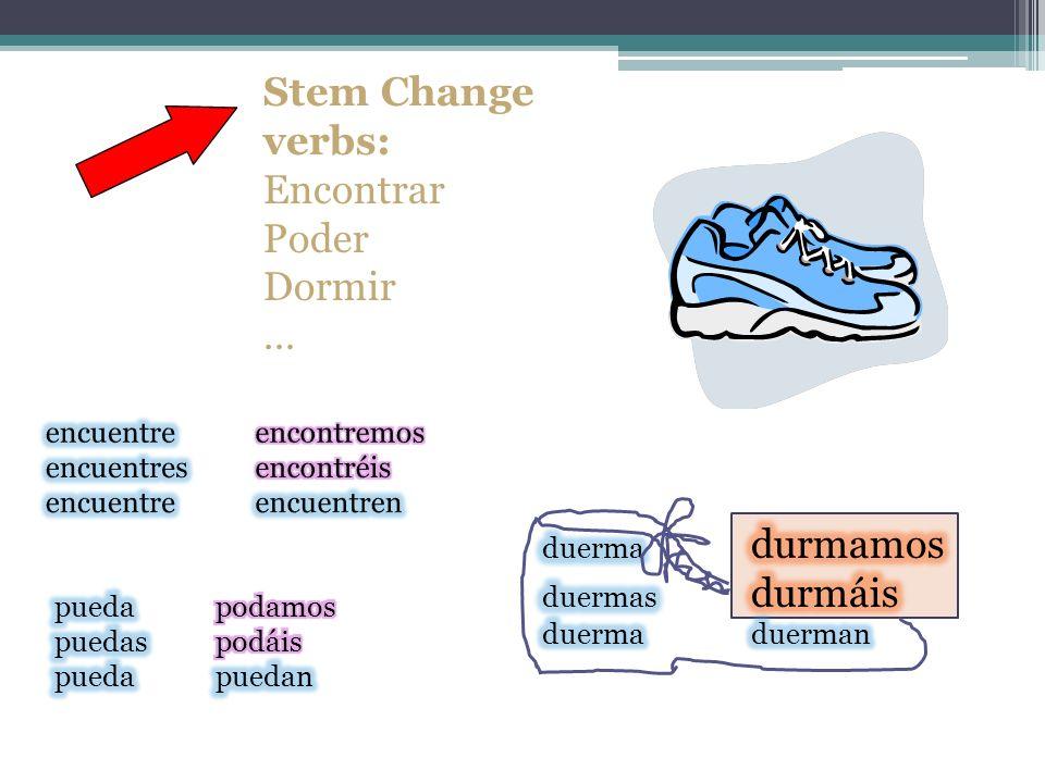 Some other irregulars in present subjunctive: Irregular YO forms: Tener Caber Coger …