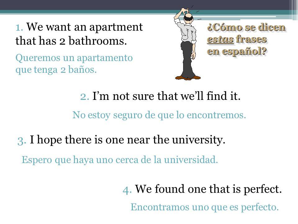 ¿Cómo se dicen estas frases en español? ¿Cómo se dicen estas frases en español? 1. I hope the new girl is very pretty. 2. They say that she is from Sp