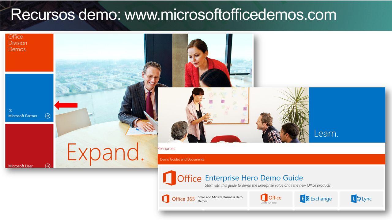 Recursos demo: www.microsoftofficedemos.com