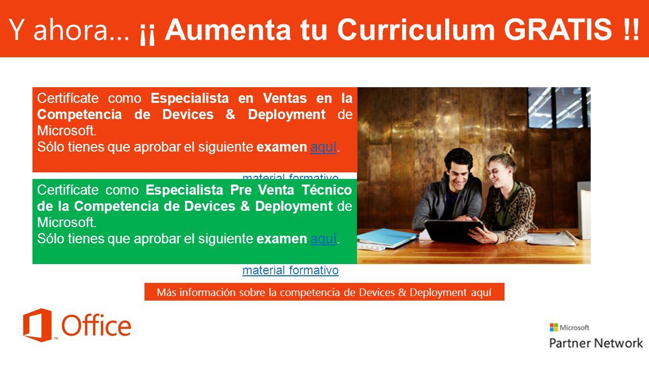 Y ahora… ¡¡ Aumenta tu Curriculum GRATIS !.