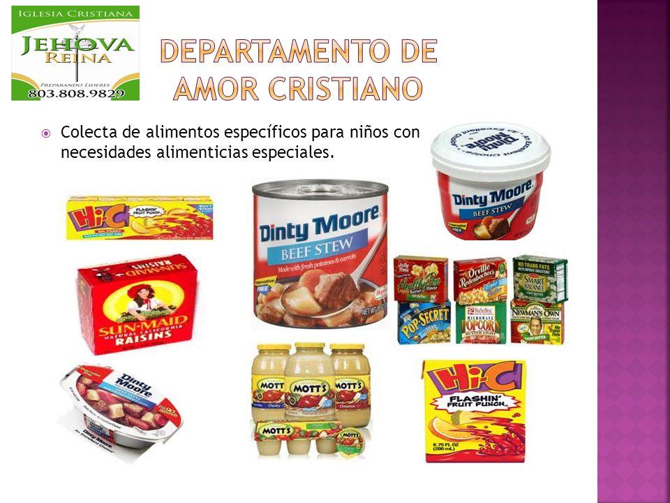 Colecta de alimentos específicos para niños con escuela, con necesidades alimenticias especiales.