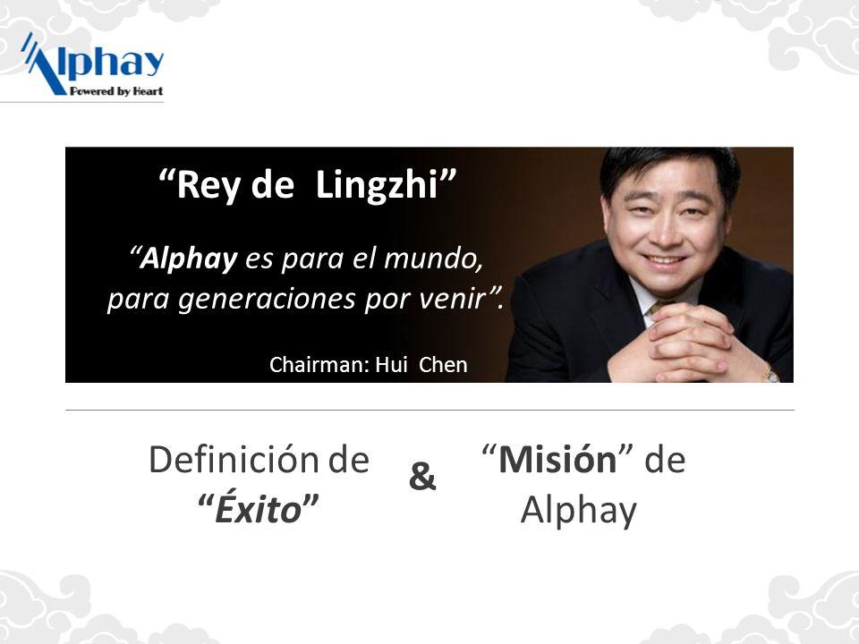 Alphay es para el mundo, para generaciones por venir. Rey de Lingzhi Chairman: Hui Chen Misión de Alphay Definición deÉxito &