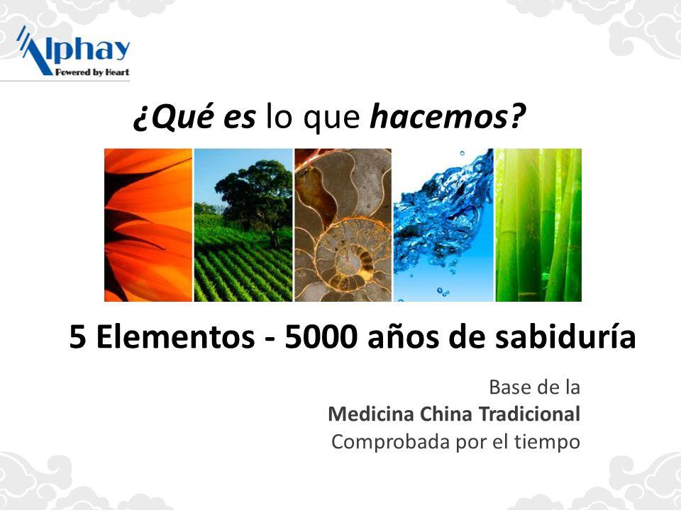 5 Elementos - 5000 años de sabiduría ¿Qué es lo que hacemos? Base de la Medicina China Tradicional Comprobada por el tiempo