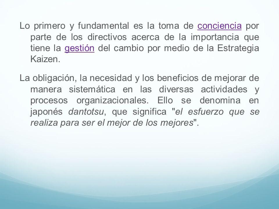 Lo primero y fundamental es la toma de conciencia por parte de los directivos acerca de la importancia que tiene la gestión del cambio por medio de la
