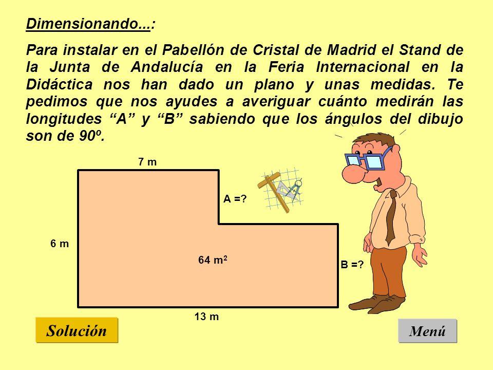 Dimensionando...: Para instalar en el Pabellón de Cristal de Madrid el Stand de la Junta de Andalucía en la Feria Internacional en la Didáctica nos han dado un plano y unas medidas.