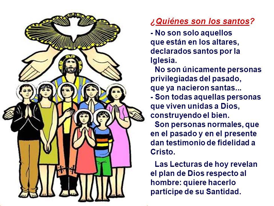 Comunión de los Santos - Indica en primero lugar la común participación de todos los miembros de la Iglesia en las COSAS SANTAS: la fe, los Sacramento