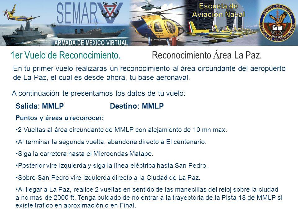 1er Vuelo de Reconocimiento.Reconocimiento Á rea La Paz. En tu primer vuelo realizaras un reconocimiento al área circundante del aeropuerto de La Paz,