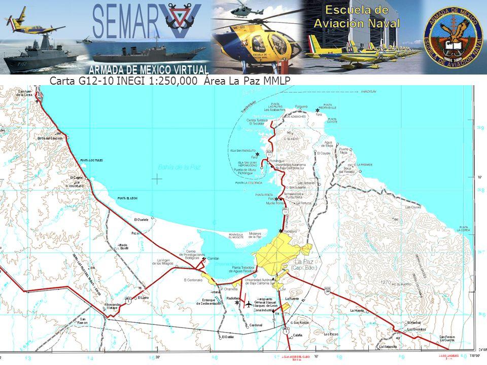 Carta G12-10 INEGI 1:250,000 Área La Paz MMLP