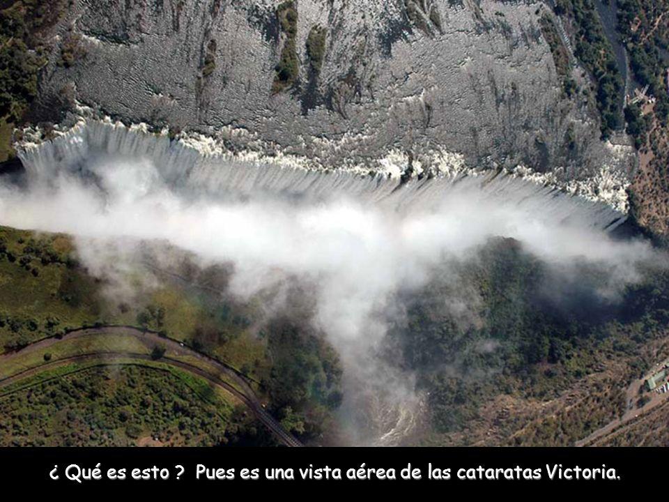 ¿ Qué es esto ? Pues es una vista aérea de las cataratas Victoria.
