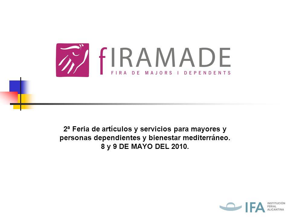 INTRODUCCIÓN FIRAMADE reúne a las principales empresas que comercializan productos y servicios para bienestar y salud caracterizado de la vida mediterránea para todo tipo de ciudadano de la provincia.