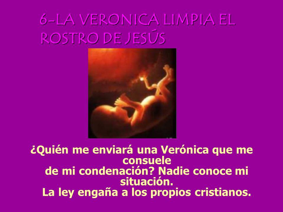 5- JESÚS AYUDADO POR EL CIRINEO Alguien te ayudó a llevar la cruz. A mí... a mí nadie me ayuda. El médico dará a mi madre un narcótico para que ella n