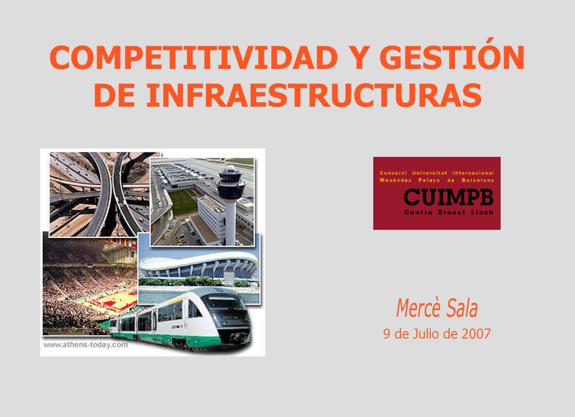 COMPETITIVIDAD Y GESTIÓN DE INFRAESTRUCTURAS 9 de Julio de 2007
