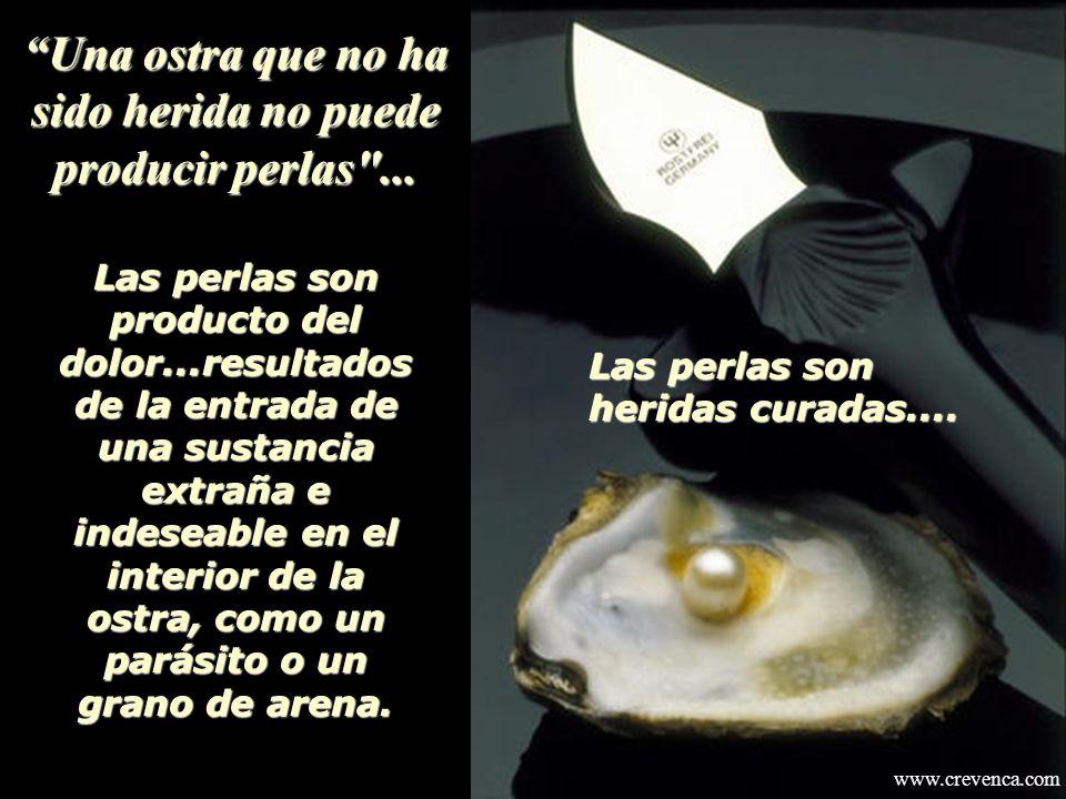 Una ostra que no ha sido herida no puede producir perlas ...