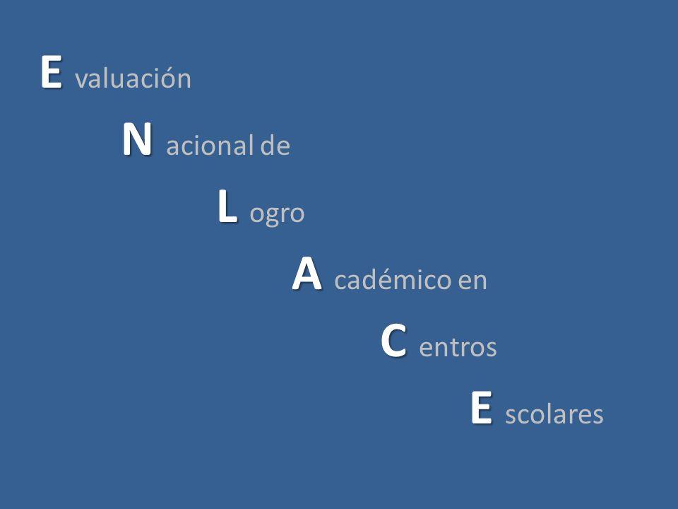 E E valuación N N acional de L L ogro A A cadémico en C C entros E E scolares