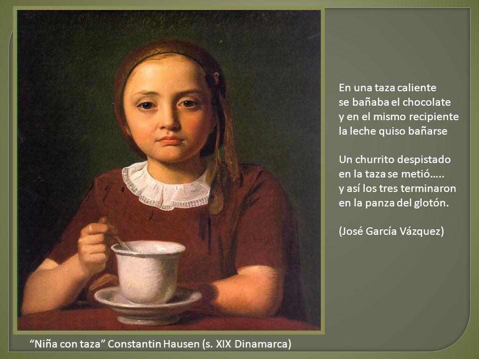 Niña con taza Constantin Hausen (s.