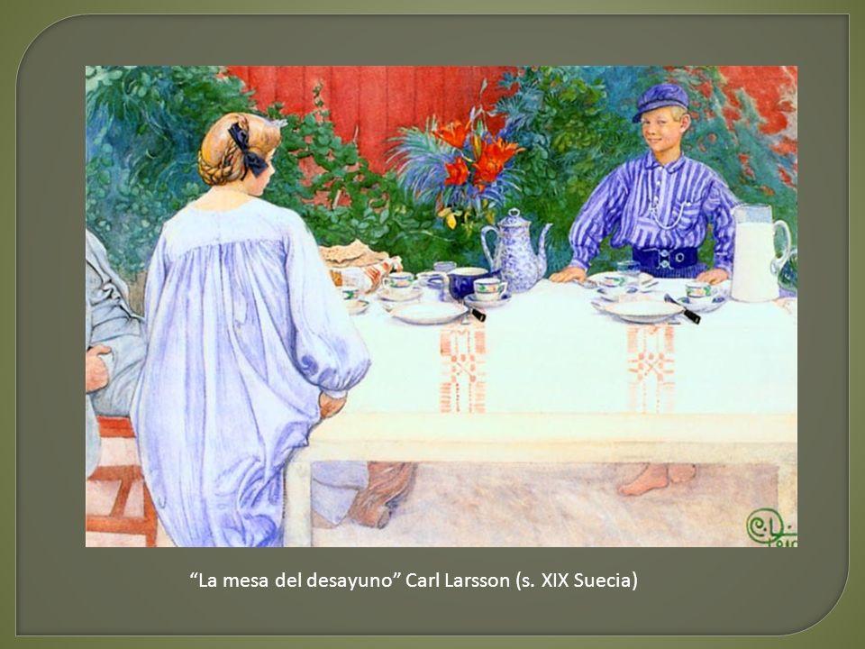 Sirviendo el café de la mañana (s. XIX Dinamarca)