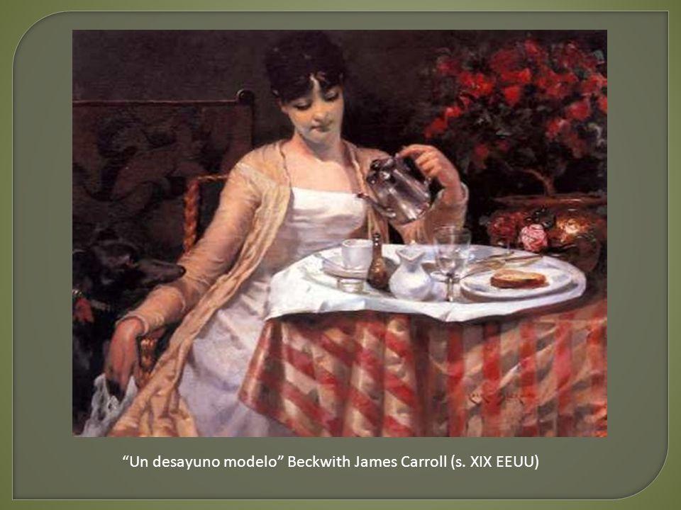 La mesa del desayuno Carl Larsson (s. XIX Suecia)