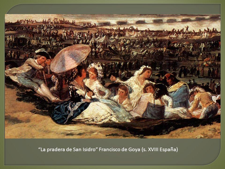 La pradera de San Isidro Francisco de Goya (s. XVIII España)