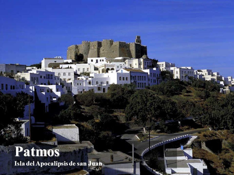 Patmos Patmos Yo, Juan… estando en la Isla de Patmos caí en éxtasis el día del Señor Ap 1, 9-10)