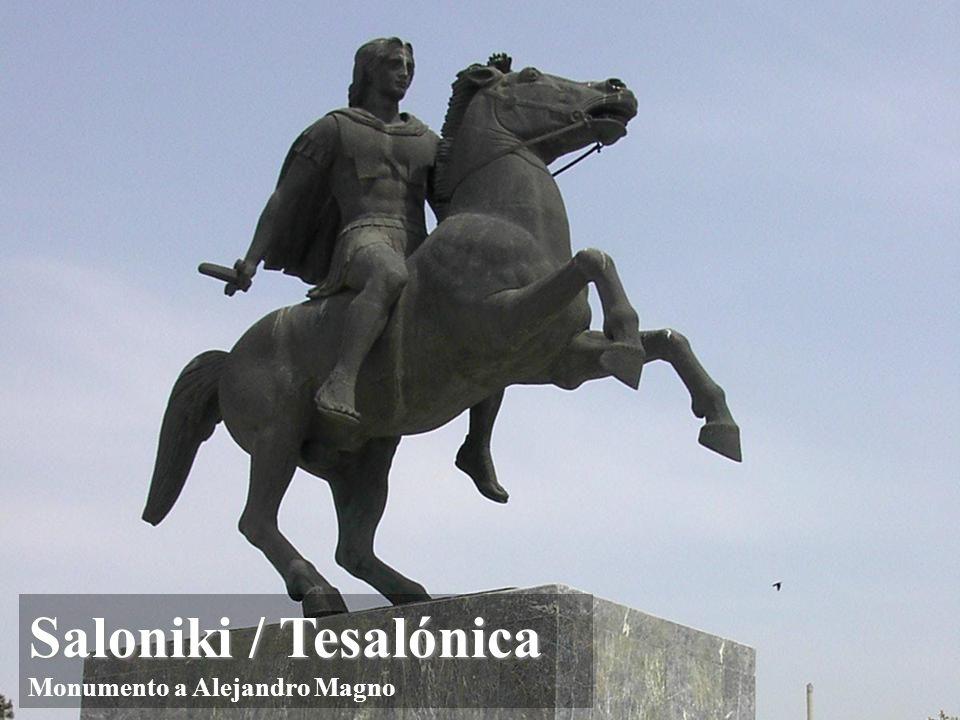 Saloniki / Tesalónica Saloniki / Tesalónica San Pablo visitó Tesalónica: Hch 17, 1-10 Desde Corintio, entre los años 52-53 escribió dos cartas a esta