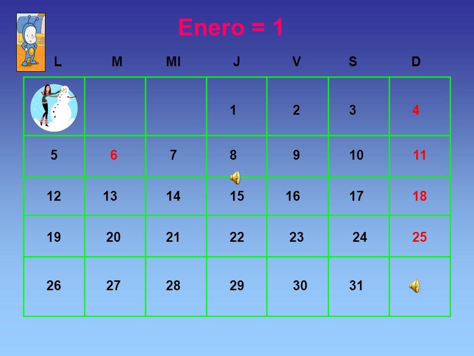 Enero = 1
