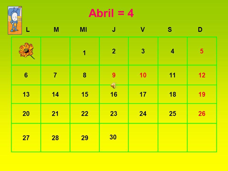 Abril = 4