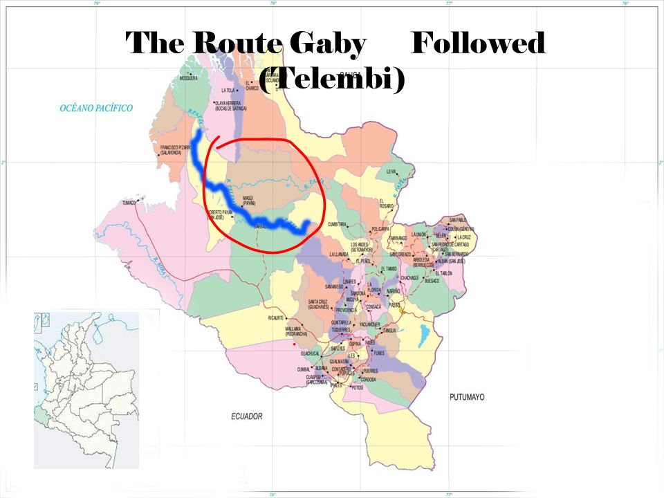 The Route Gaby Followed (Telembi)