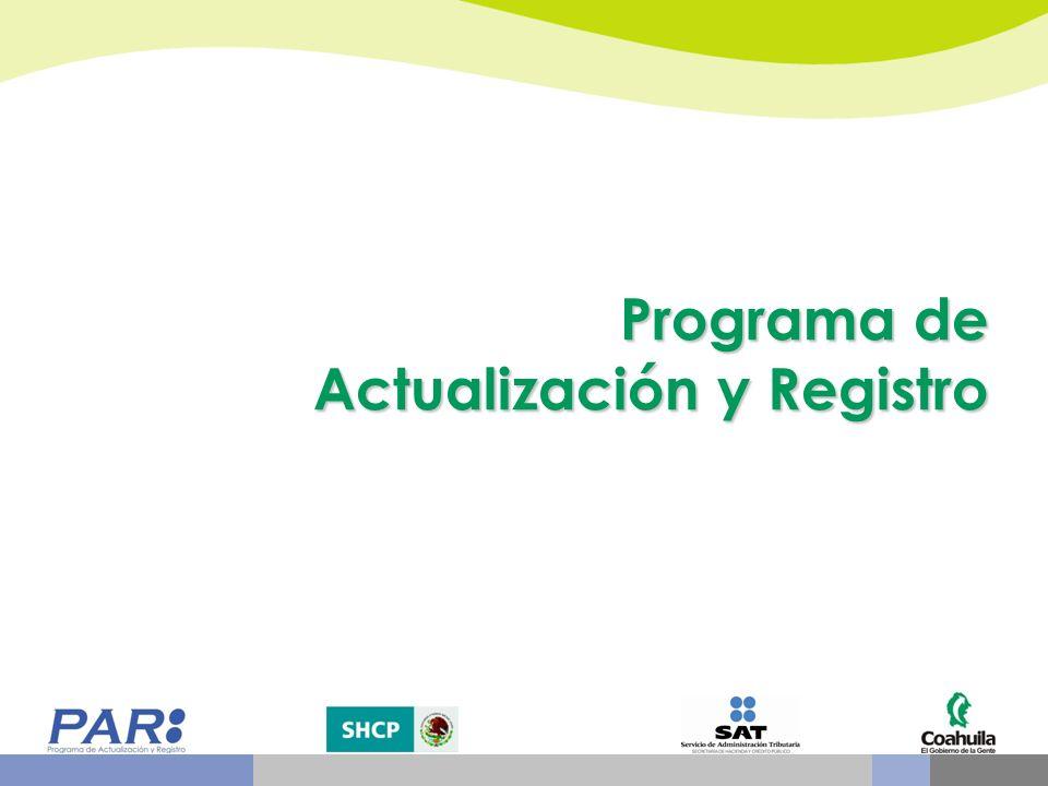 Programa de Actualización y Registro