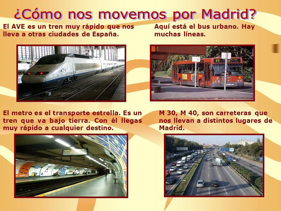 El AVE es un tren muy rápido que nos lleva a otras ciudades de España.