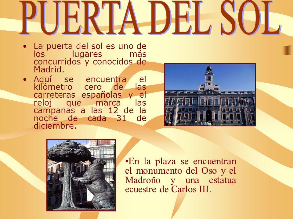 La puerta del sol es uno de los lugares más concurridos y conocidos de Madrid.