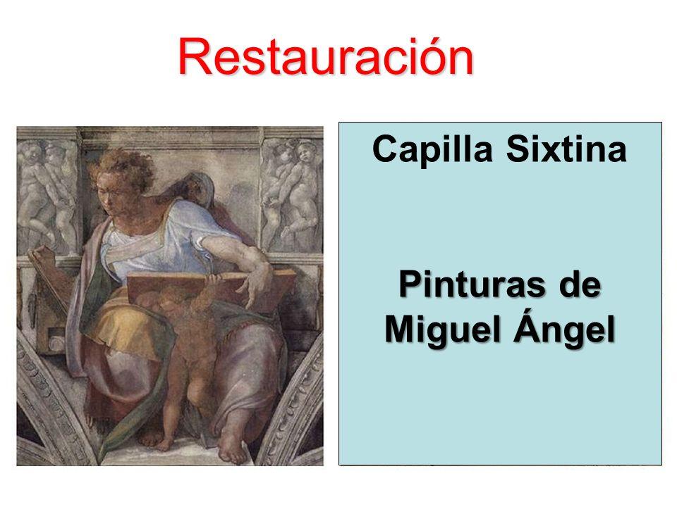 Restauración Capilla Sixtina Pinturas de Miguel Ángel