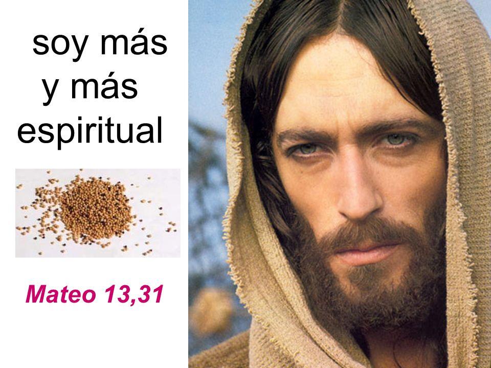 soy más y más espiritual Mateo 13,31