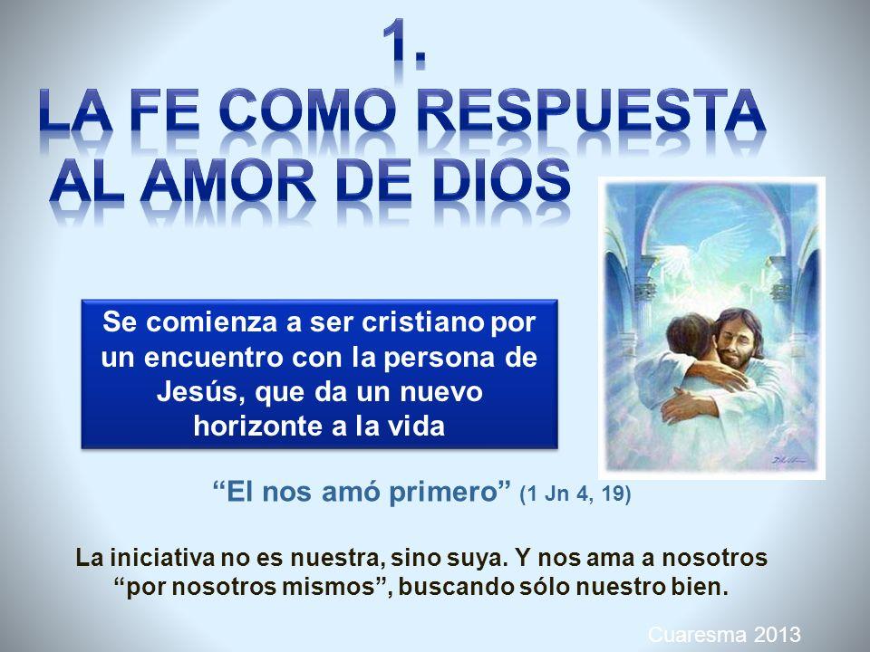 Cuaresma 2013 Como una ocasión para meditar la relación entre fe y caridad El mensaje en el año de la fe, es una invitación a vivir la fiesta del amor..