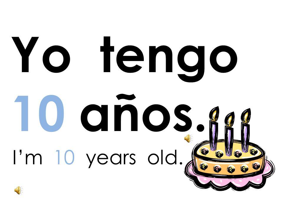 ¿ Cuántos años tienes tú? How old are you ?