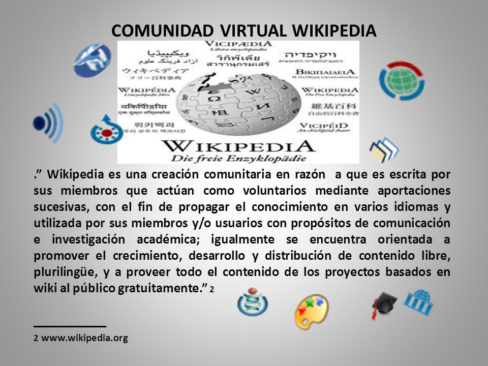 COMUNIDAD VIRTUAL WIKIPEDIA.