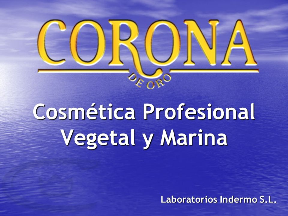 Cosmética Profesional Vegetal y Marina Laboratorios Indermo S.L.