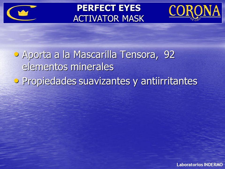Laboratorios INDERMO PERFECT EYES ACTIVATOR MASK Aporta a la Mascarilla Tensora, 92 elementos minerales Aporta a la Mascarilla Tensora, 92 elementos m