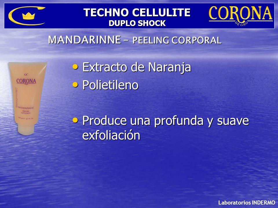 Laboratorios INDERMO TECHNO CELLULITE DUPLO SHOCK Theobroma Cacao: Lipolítico.