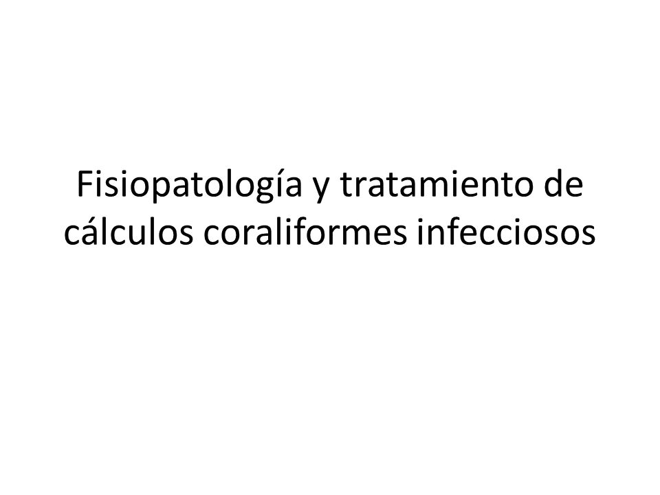 Tratamiento disolutivo: Solución G de Suby: ácido cítrico, óxido de magnesio y carbonato de sodio.