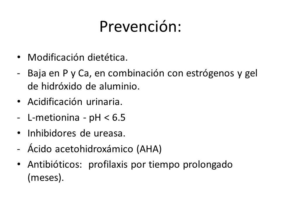 Prevención: Modificación dietética.