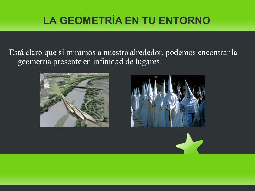LA GEOMETRÍA EN TU CUERPO Piensa en el entorno que te rodea, y trata de identificar formas geométricas.