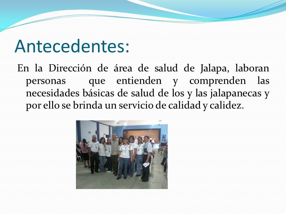 Antecedentes: En la Dirección de área de salud de Jalapa, laboran personas que entienden y comprenden las necesidades básicas de salud de los y las ja