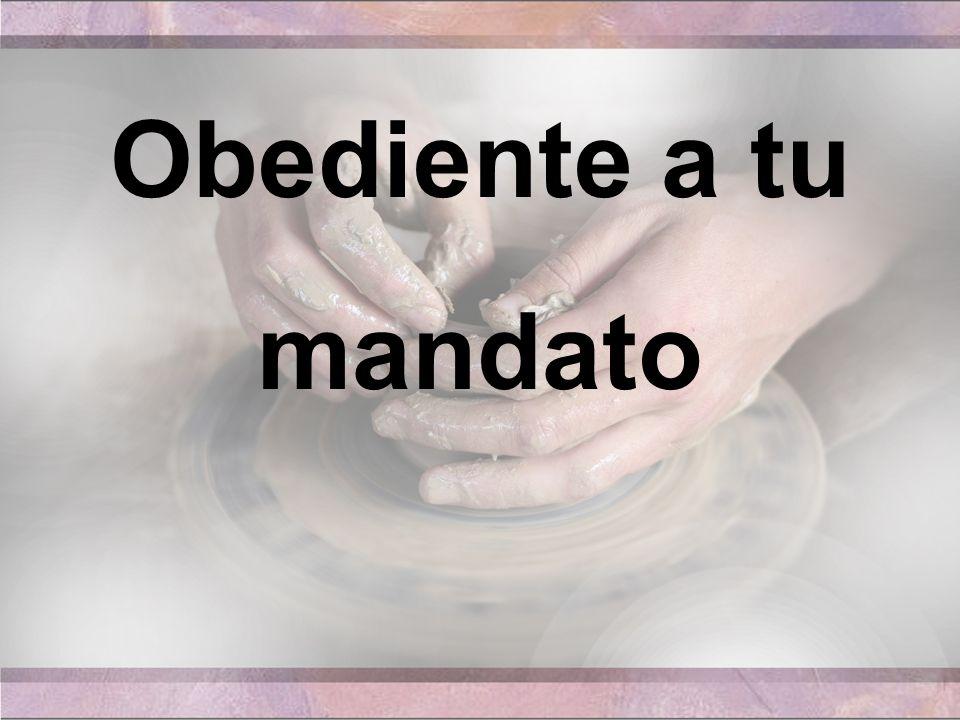 1.Oediente a tu mandato participa hoy tu grey De la cena, y con gozo la recibe nuestra fe;