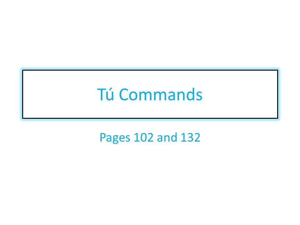 When do I use tú commands.