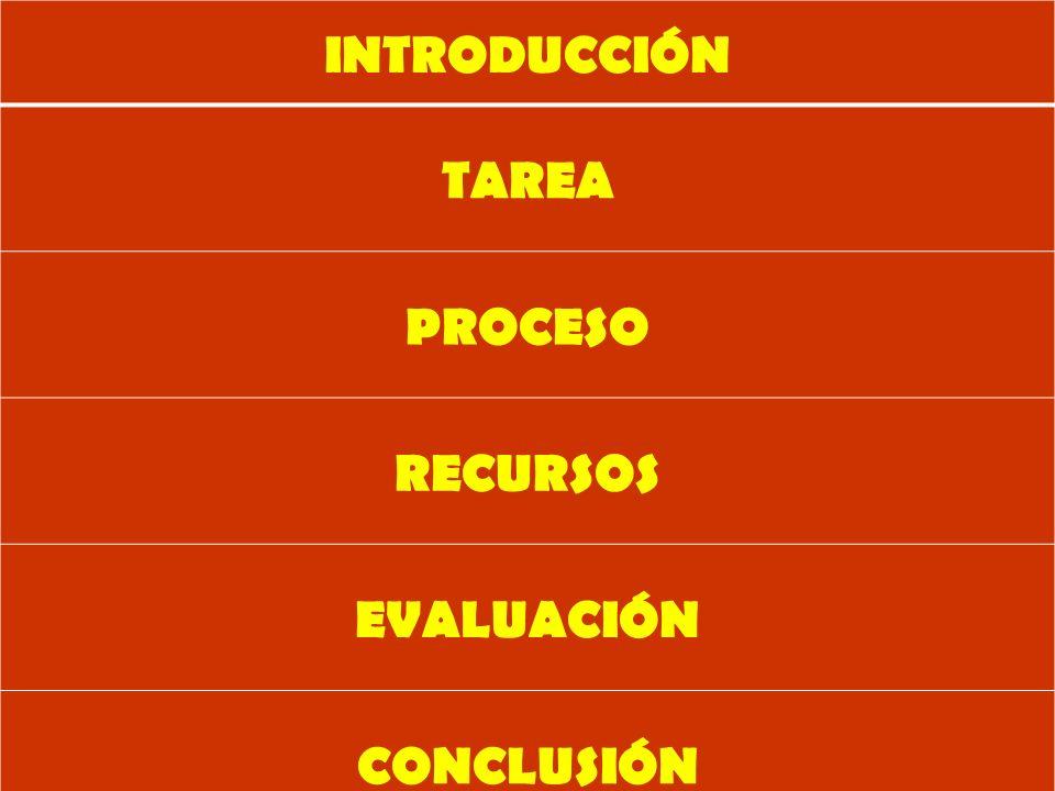 INTRODUCCIÓN TAREA PROCESO RECURSOS EVALUACIÓN CONCLUSIÓN CRÉDITOS Y REFERENCIAS