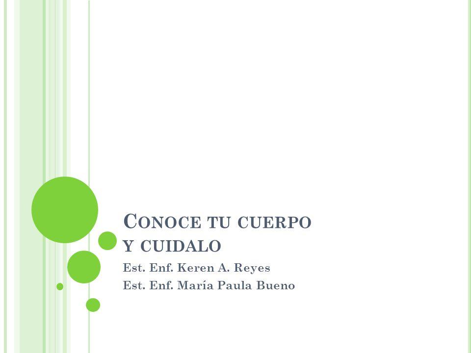 C ONOCE TU CUERPO Y CUIDALO Est. Enf. Keren A. Reyes Est. Enf. María Paula Bueno